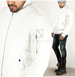Pure White Padded Air Force Jacket 165