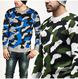 Sophisticate Camouflage Soft Slim Knit Sweater 29