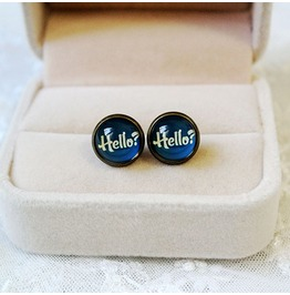 Fashion Vintage Letters Hello Stud Earrings