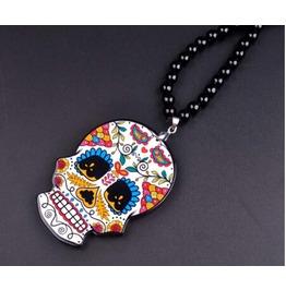 Hip Hop Acrylic Pendant Skull Necklace
