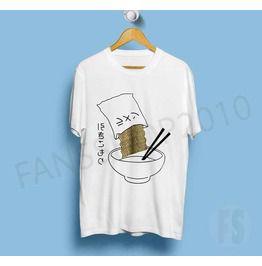 Noodles Playful Harajuku Japanese Letter White T Shirt