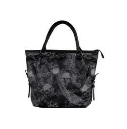 Iron Fist Clothing Women's Urban Decay Skulls And Barbed Wire Tote Bag