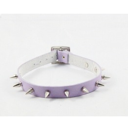 New Leather Spike Collar Cosplay Punk Leather Chain