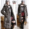 Hollywood rock diva faux fur long coat leopard cheetah jackets 6