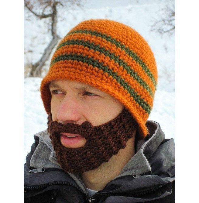 da2795e89ac Winter Striped Knit Ski Face Mask Beanie Crochet Beard