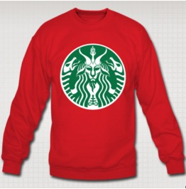 Red Cup Baphomet Unisex Holiday Sweatshirt