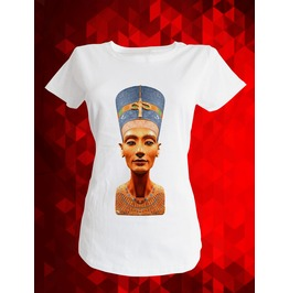 T Shirt Nefertiti Egypt Beauty Queen Berlin Museum Woman Statue White Tee