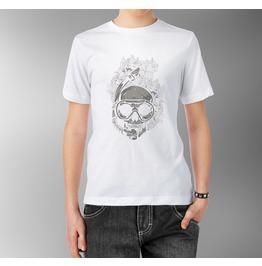 T Diver Scull Flowers Skeleton Death Under Water Men White Shirt Tee