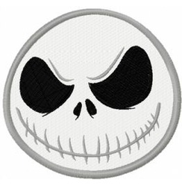 Embroidered Jack Skellington Iron On / Sew Patch Skull Patch
