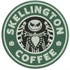 Embroidered faux starbucks skellington coffee patch iron on sew  patches 2