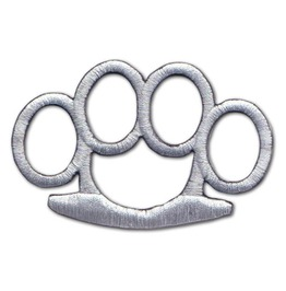 "Silver Combat ""Knuckle Duster"" Iron Patch"