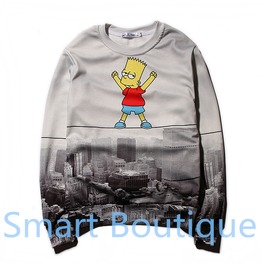3 D Cartoon Novelty Men Women Gray Crew Neck Sweatshirts Gifts