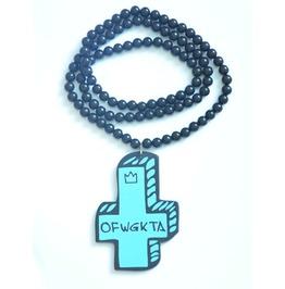 Hip Hop Fashion 3 D Blue Cross Pendant Men Necklace