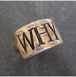 Handmade Custom Monogram Ring Unisex