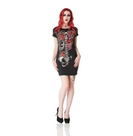 Jawbreaker Bones And Roses Tee Dress