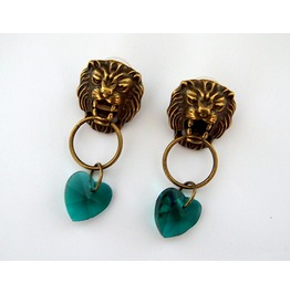 Game Of Thrones Inspired Cersei Lannister Lions Head Earrings