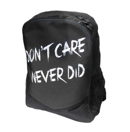 Alternative Don't Care Never Did Backpack By Darkside Clothing