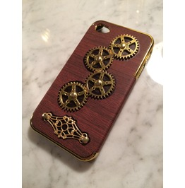 Igearz Steampunk Apple Iphone 4s Case Cover Gears Turn Brass Vent