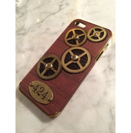 Igearz Steampunk Case Cover Apple Iphone 5 S Gears Spin 424