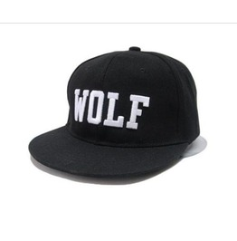 Awesome Wolf Black Baseball Cap