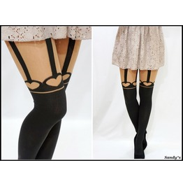 Heart Suspender Stockings/ Pantyhose/ Tights