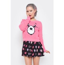 Iron Fist Clothing Women's Pink Care Bears Stare Sweater