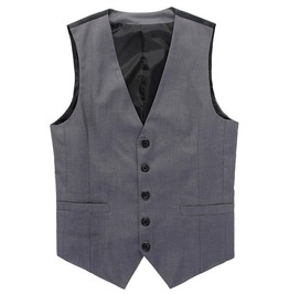 Mens Slim Fit Grey Vest
