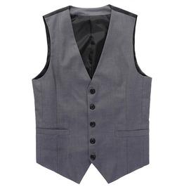 Mens Designed Grey Vest Male Slim Fit Business Leisure Suit Waistcoat