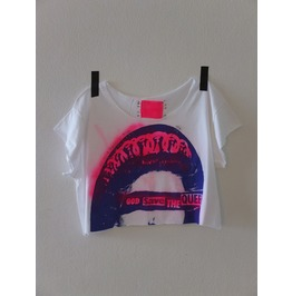 God Save The Queen Diy Punk Rock Crop Top Pop Art T Shirt, One Size L