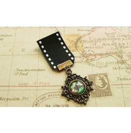Bronze Steampunk Dragon's Eye Medal Green Eye