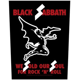 Black Sabbath Giant Back Patch Sew Sold Our Soul For Rock N Roll