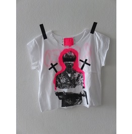 Leonardo Di Capro Romeo Cross Punk Rock Style Crop Top Pop Art T Shirt, M L
