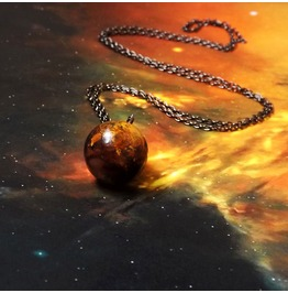 Handmade Mars Necklace Solar System Jewelry