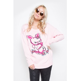 Iron Fist Women's Pink Bunny Bunch Sweater