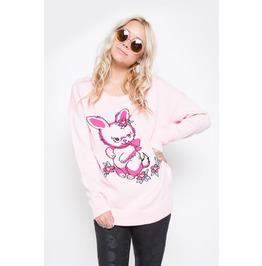 Iron Fist Women's Pink Bunny Bunch Sweater