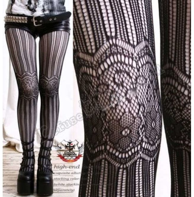 0184b63aee6a2 Aristocrat Lolita French Lace Tights/Pantyhose/Hosiery | RebelsMarket