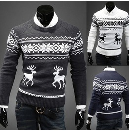 Men's Christmas Little Fawn Pullover