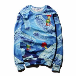 3 D Cartoon Character Print Unisex Sweatshirts Christmas Gift