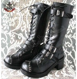 Goth Punk Cosplay Jbd Visual Kei V Stud Buckle Boots Handmade
