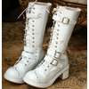 Gothic punk cosplay visual kei v stud strap buckle heel boots handmade boots 2