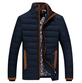 Mens Stand Collar Warm Coat