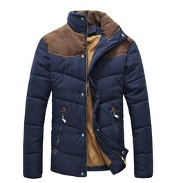 Mens Wadded Warm Cotton Coat