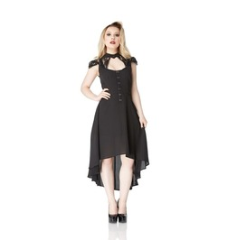 Jawbreaker Silencio Gothic Black Asymmetric Hem Dress
