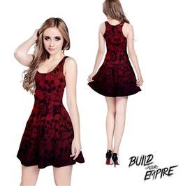 [ Plus Size 3 X L ] Pile Of Skulls Sleeveless Dress