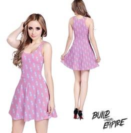 [ Plus Size 2 X L ] Liquid Lightning Sleeveless Dress