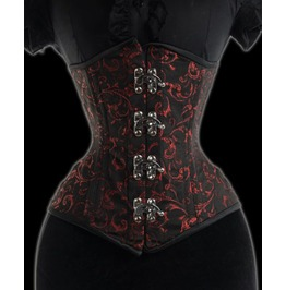 Steel Boned Ruby Extreme Waist Cincher $9 Worldwide Shipping