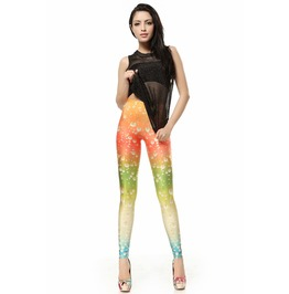 Rainbow Dew Drop Style Pattern Leggings Pants