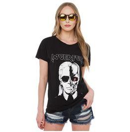 Punk Skull Printed Loose Women's T Shirt
