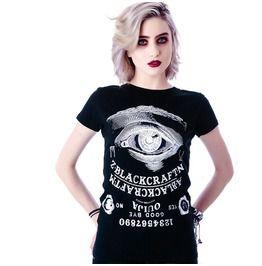Punk Black Big Eyeball Loose Women's T Shirt