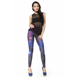 Purple Blue Space Galaxy Leggings Pants